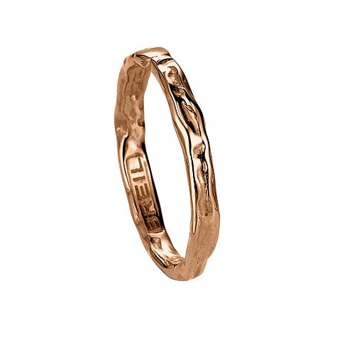 Milano Desideri 18ct rose gold ring - size M