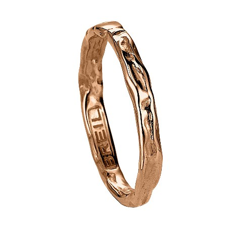 Milano Desideri 18ct rose gold ring - size L