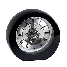 Round Wooden Skeleton Mantel Clock - Product number 6576389