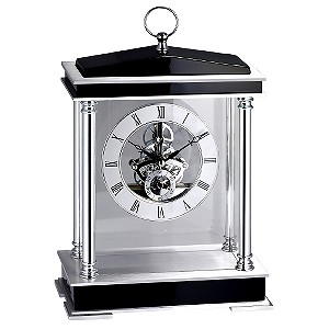 Wood Skeleton Mantle Clock with Pillars - Product number 6576397