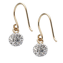 9ct Gold Small Crystal Hook Drop Earrings - Product number 6581188