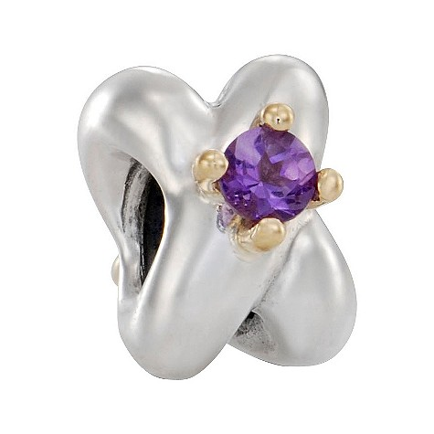 sterling silver and 14ct gold amethyst
