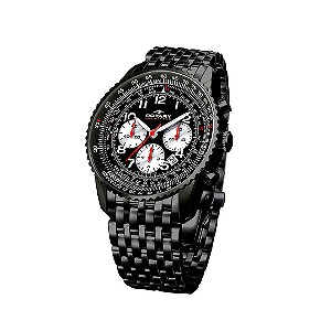 rotary watches reviews aquaspeed men` ion plated chronograph watch