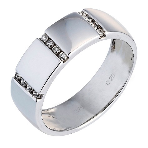 9ct white gold men