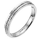 9ct white gold channel set diamond wedding ring - Product number 6618278