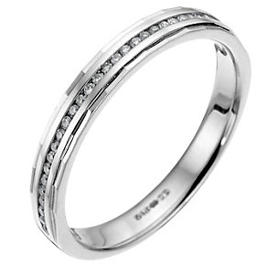 ... white gold channel set diamond wedding ring - Product number 6618278