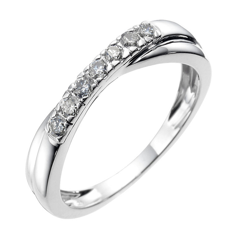 18ct white gold quarter carat diamond wedding ring - Product number 6618529