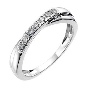 18ct white gold quarter carat diamond wedding ring - Product number 6618529