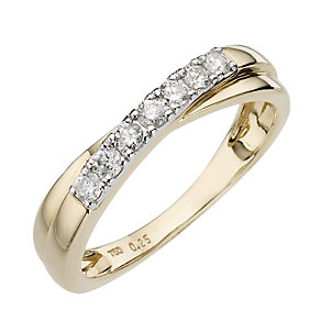 18ct Yellow Gold Quarter Carat Diamond Ring - Product number 6618669