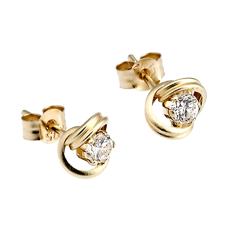 9ct Yellow Gold Baby Stud Cubic Zirconia Earrings - Product number 6619177