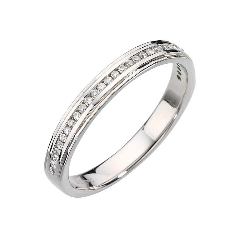 Platinum channel set diamond ring - Product number 6620396