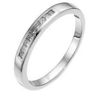 Platinum Princess Cut Diamond Wedding Ring - Product number 6620671