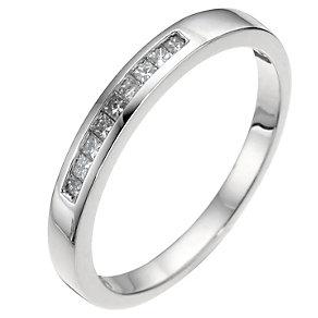 Platinum Princess Cut Diamond Wedding Ring - Product number 6620671