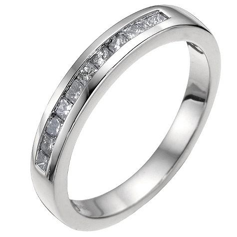 Platinum 1/3 carat diamond wedding ring