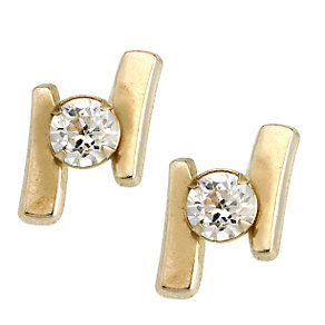 9ct Yellow Gold Cubic Zirconia Stud Earrings - Product number 6621627