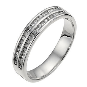 18ct white gold 1/4 carat diamond wedding ring - Product number 6626335