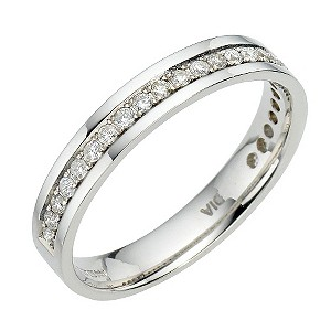 18ct white gold quarter carat diamond ring - Product number 6626467