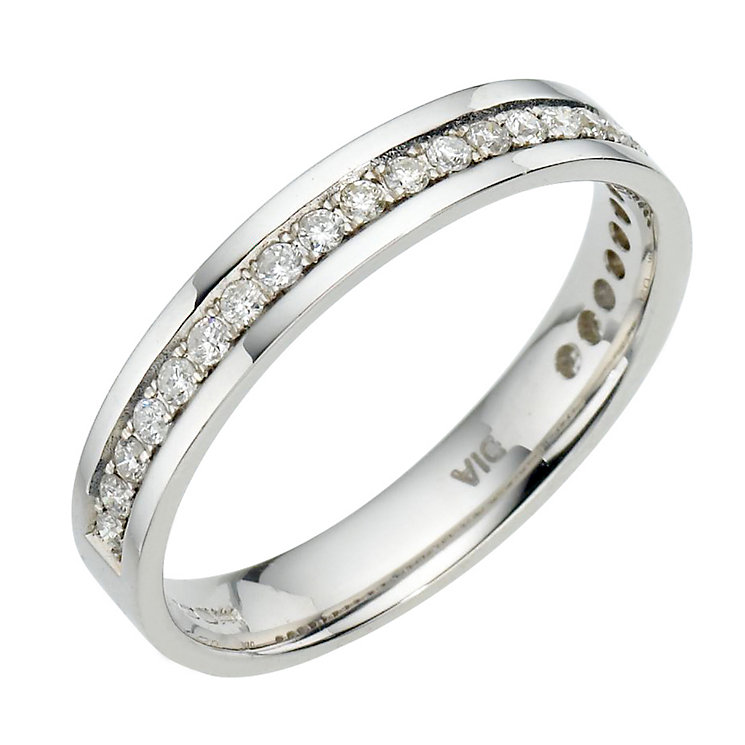 18ct white gold quarter carat diamond ring - Product number 6626467