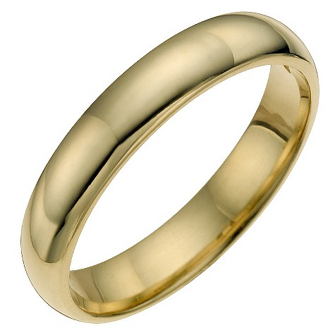 Ladies' 9ct yellow gold wedding ring