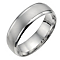 18ct white gold matt & polished wedding ring - Product number 6628338