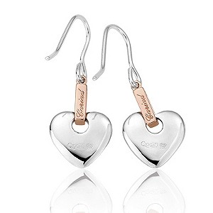 Clogau Silver & Rose Gold Cariad Earrings - Product number 6634028