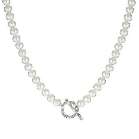 Cultured freshwater pearl 9ct gold necklace
