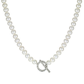 Cultured freshwater pearl 9ct gold necklace - Product number 6637272