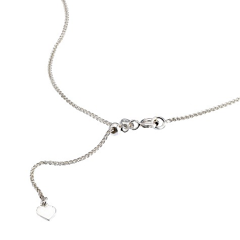 Silver adjustable necklace spiga chain