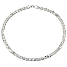 Sterling silver woven necklace - Product number 6638031