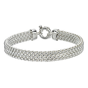 Sterling silver woven mesh bracelet - Product number 6638058