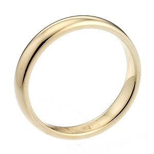 18ct Yellow Gold Extra Heavy 2mm Court Wedding Ring