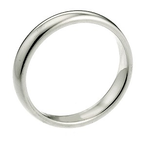 18ct White Gold Extra Heavy 2mm Court Wedding Ring