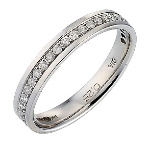 9ct White Gold Quarter Carat Diamond Ladies' Ring - Product number 6645658