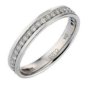 9ct White Gold Quarter Carat Diamond Ladies