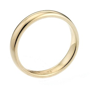9ct Yellow Gold 2mm Extra Heavyweight Court Ring