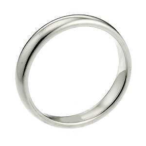 9ct White Gold 2mm Extra Heavyweight Court Wedding Ring