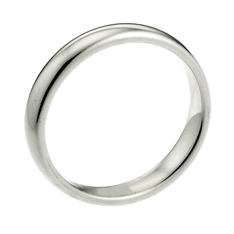 9ct White Gold 2mm Extra Heavyweight Court Wedding Ring - Product number 6655491