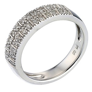 9ct white gold 15pt diamond eternity ring