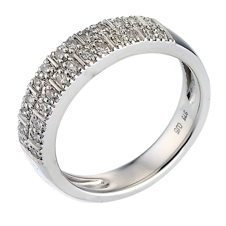 9ct white gold 15pt diamond eternity ring - Product number 6658164