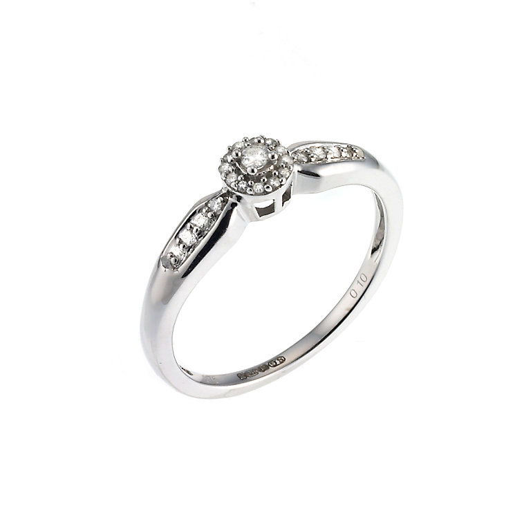 9ct White Gold Diamond Solitaire Ring - Product number 6660789