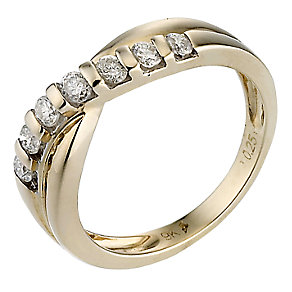 9ct yellow gold quarter carat diamond eternity ring - Product number 6663117