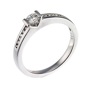 18ct White Gold Third Carat Diamond Solitaire Ring - Product number 6669751