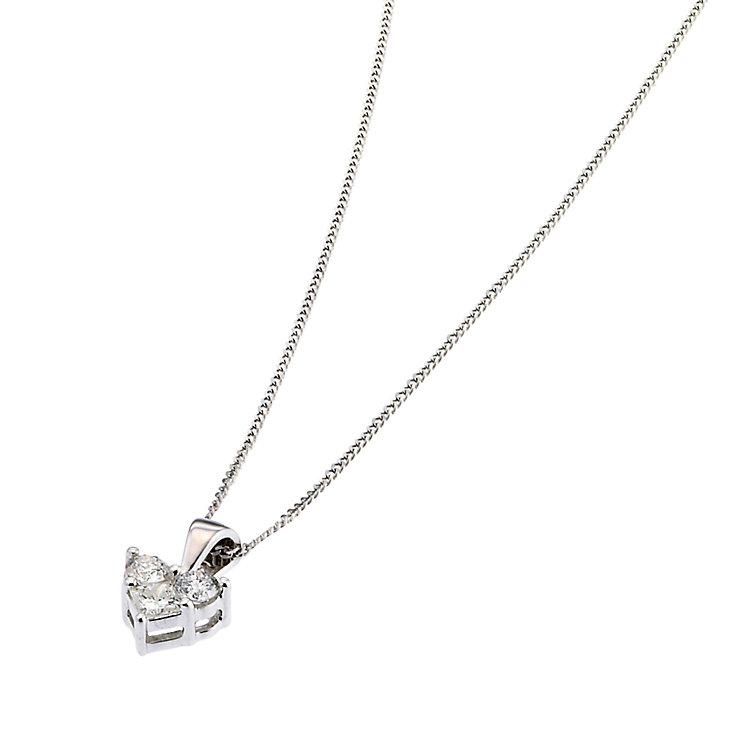 9ct white gold quarter carat diamond heart pendant - Product number 6671640