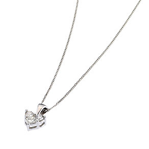 9ct white gold quarter carat diamond heart pendant - Product number 6671640