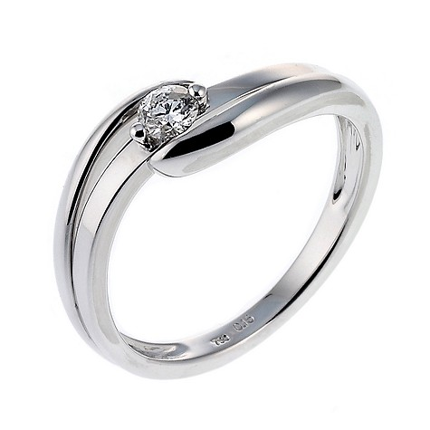 18ct white gold 15 point diamond solitaire ring