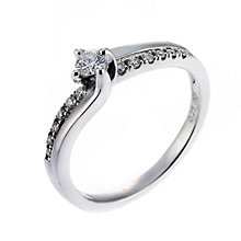 18ct white gold quarter carat diamond solitaire ring - Product number 6674895