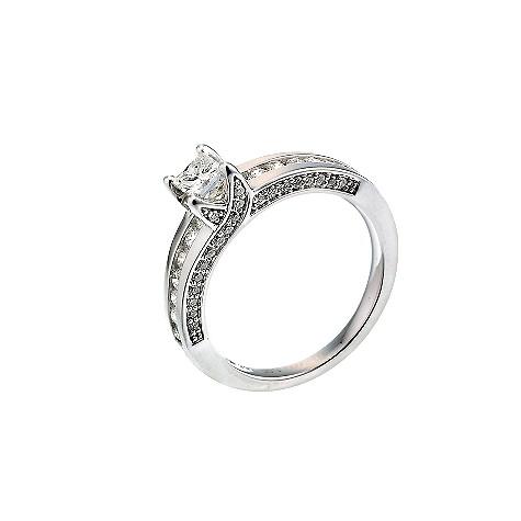 18ct white gold one carat diamonds ring