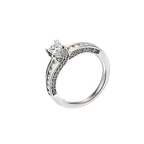 18ct white gold one carat diamond solitaire ring - Product number 6675034