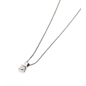 9ct white gold diamond bar pendant - Product number 6675565