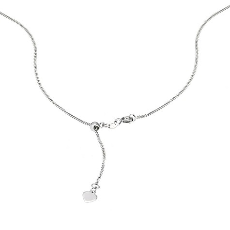 Sliding adjuster 18ct white gold curb chain 20